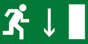 Е09 указатель выхода правосторонний