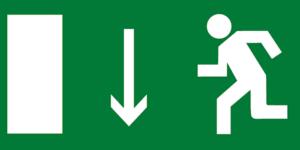 Е10 указатель выхода левосторонний