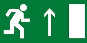 Е11 направление к выходу прямо правосторонний
