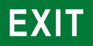 знак эвакуации exit
